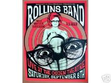 HENRY ROLLINS BAND - 2001 - OGDEN - DENVER - POSTER - LINDSEY KUHN - LIMITED