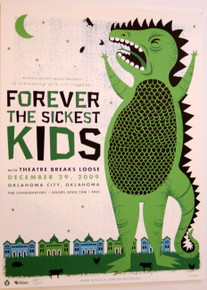 FOREVER THE SICKEST KIDS - THE CONSERVATORY - 2009 - MYSPACE SECRET SHOW POSTER
