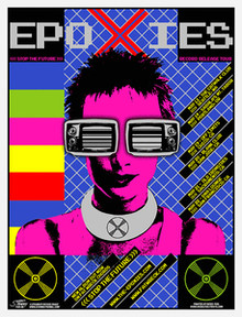 EPOXIES - STOP THE FUTURE - SEATTLE - FRISCO  - 2005 - TOUR POSTER - STAINBOY