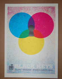 BLACK KEYS - GERMANY - DUSSELDORF - LARS P.KRAUSE - BROTHERS - 2012 -TOUR POSTER