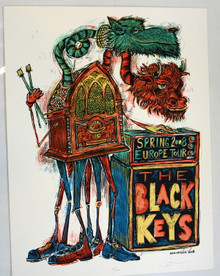 BLACK KEYS - 2008 - EUROPE TOUR - BROTHERS- EL CAMINO- DAN GRZECA - TOUR POSTER