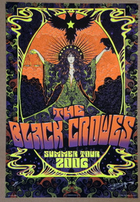 BLACK CROWES - 2006 SUMMER TOUR POSTER - ARTIST PROOF - RICHARD BIFFLE - CHRIS ROBINSON