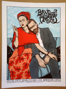 BAND OF HORSES - NEW YORK  - #9/150 - JASON LYTLE -  2012 - JERMAINE ROGERS -TOUR POSTER