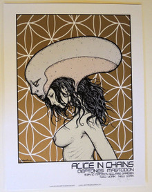 ALICE IN CHAINS - DEFTONES - ARTIST PROOF - MSG NEW YORK CITY - 2010 -JERMAINE ROGERS - POSTER
