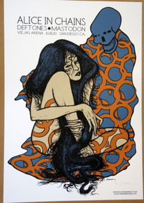 ALICE IN CHAINS - MASTODON - THE DEFTONES - ARTIST PROOF - POSTER - SAN DIEGO - JERMAINE ROGERS