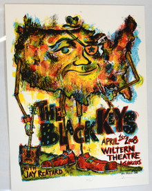BLACK KEYS - 20O8 - LOS ANGELES - DAN GRZECA - WILTERN THEATER - TOUR POSTER