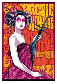 ARCTIC MONKEYS - AM - KEN TAYLOR - 2009 - MELBOURNE - AUSTRALIA - TOUR POSTER