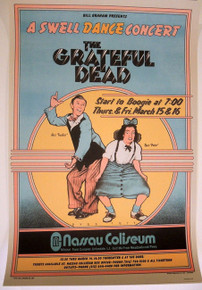 THE GRATEFUL DEAD - 1973 - NASSAU COLLISEUM - DAVID BYRD - FURTHUR - BILL GRAHAM