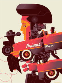 PRIMUS - LES CLAYPOOL - ELVIS - 2014 - KNOXVILLE  - TOM WHELAN - TOUR POSTER