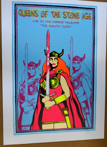 QUEENS OF THE STONE AGE - DILUTH  2007 - POSTER- LINDSEY KUHN - JOSH HOMME