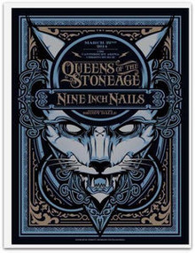 QUEENS OF THE STONE AGE - NINE INCH NAILS - 2014 - CHRISTCHURCH - JOSHUA SMITH - POSTER