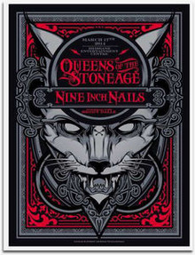 QUEENS OF THE STONE AGE - NINE INCH NAILS - 2014 - BRISBANE - JOSHUA SMITH - POSTER