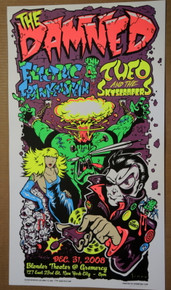 THE DAMNED - ELECTRIC FRANKENSTEIN - JOE SIMKO - NEW YORK CITY - 2008 - POSTER -