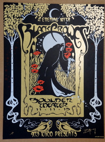 THE BLACK CROWES - 2013 - BOULDER COLORADO - ARTIST PROOF -RICHARD BIFFLE - TOUR POSTER
