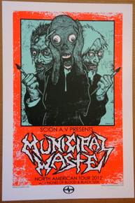 MUNICIPAL WASTE - ARTIST PROOF - SCIONAV PRESENTS - 2012 TOUR POSTER - JERMAINE ROGERS -