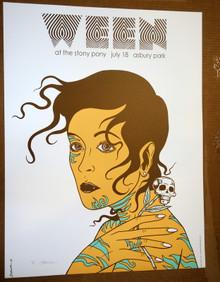 WEEN - 2009 - ASBURY PARK - ARTIST PROOF - POSTER - JERMAINE ROGERS