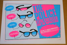 THE POLICE - ELVIS COSTELLO - IMPOSTERS - PINK - 2008 - TOUR POSTER - STAINBOY