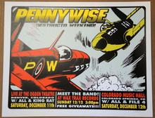 PENNYWISE - 1999 - ALL - ALIEN - STRAIGHT - POSTER -LINDSEY KUHN - DENVER