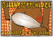 QUEENS OF THE STONE AGE - HOMME - ONE EYED JACKS - NEW ORLEANS - POSTER - LINDSEY KUHN