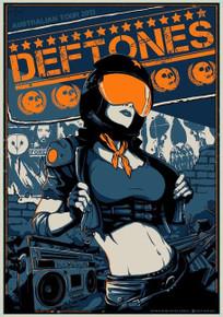 THE DEFTONES - SWERVE CITY - AUSTRALIAN TOUR 2013 - TOUR POSTER - VANCE KELLY