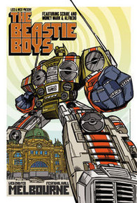 THE BEASTIE BOYS - MELBOURNE - AUSTRALIA - CHECK HEAD - TOUR POSTER - 2005 -