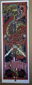 FOO FIGHTERS - RHYS COOPER - 2011 - TOUR POSTER - AUSTRALIA - NIRVANA - SYDNEY
