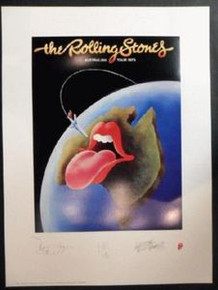 ROLLING STONES - LITHOGRAPH - 1977 - AUSTRALIA - TOUR POSTER - KEITH RICHARDS