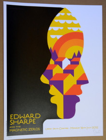 EDWARD SHARPE MAGNETIC ZEROS - LEEDS IRISH CENTRE -  2012 -POSTER - DAN STILES