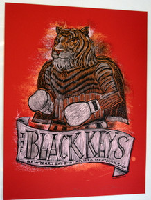BLACK KEYS - 2010 - CHICAGO - DAN GRZECA -BROTHERS - NEW YEARS DAY- TOUR POSTER