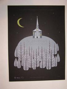 GLASVEGAS - MYSPACE SECRET SHOW - 2009 - LAS VEGAS - SILK SCREENED TOUR POSTER