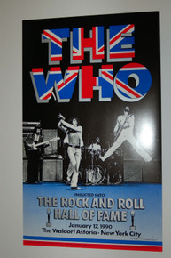 THE WHO -  HALL OF FAME - 1990 - PETE TOWNSHEND - ROGER DALTRY - KEITH MOON