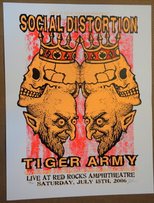 SOCIAL DISTORTION - 2006 - VARAINT - TIGER  ARMY - RED ROCKS  - LINDSEY KUHN - POSTER