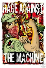 RAGE AGAINST THE MACHINE - POSTER - AUSTRALIA 2008 -