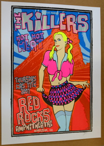 THE KILLERS - RED ROCKS - SAMS TOWN - 2007  - POSTER - LINDSEY KUHN