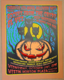 ROCKET FROM THE CRYPT - EL VEZ  -- POSTER - LINDSEY KUHN - 2001 - POSTER