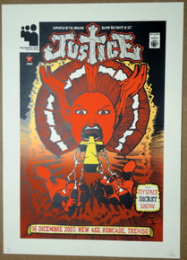 JUSTICE - WOMAN WORLDWIDE - MY SPACE SHOW- TREVISO - ITALY - POSTER - MALLEUS