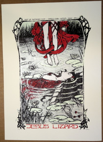 JESUS LIZARD - 2009 - ROME - POSTER - MALLEUS - SILK SCREEN