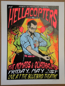 HELLACOPTERS - 1999 - NOMADS - QUADRAJETS -  POSTER - LINDSEY KUHN - DENVER