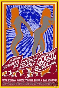 GOGOL BORDELLO - VALIENT THORR -POSTER - KUHN - LIMITED