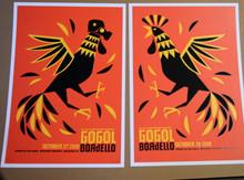 GOGOL BORDELLO - OCT 27/28 2010 - MATCHED # SET - BOULDER - DAN STILES - POSTER