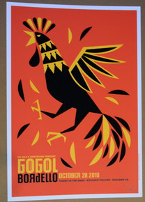 GOGOL BORDELLO - OCT 28 2010 - BOULDER THEATER  - DAN STILES - POSTER