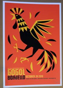 GOGOL BORDELLO - OCT 28 2010 - BOULDER THEATER  - DAN STILES - POSTER
