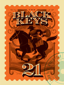 THE BLACK KEYS - 2014 - KANSAS - TOM WHELAN - ST. VINCENT - TOUR POSTER