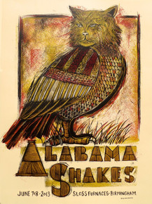 ALABAMA SHAKES - SLOSS FURNACES - 2013 - BIRMINGHAN - TOUR POSTER