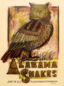 ALABAMA SHAKES - SLOSS FURNACES - 2013 - BIRMINGHAN - TOUR POSTER