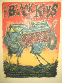 THE BLACK KEYS - 2009 TOUR POSTER - DAN GRZECA - DETROIT - NYC