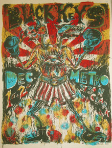 THE BLACK KEYS - 2005 - THE METRO - CHICAGO - DAN GRZECA - TOUR POSTER