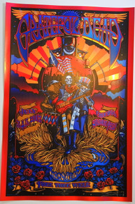 GRATEFUL DEAD - CHICAGO - ARTIST PROOF - RICHARD BIFFLE - FARETHEE WELL - GD 50TH