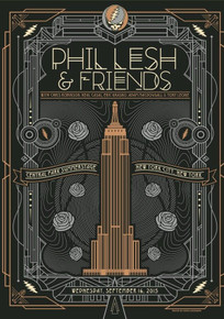 PHIL LESH AND FRIENDS - 2015 - CENTRAL PARK - NYC - POSTER - JUSTIN HELTON