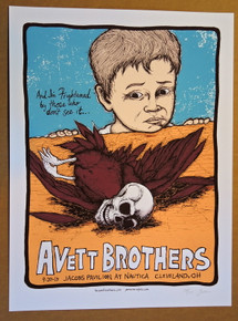 THE AVETT BROTHERS - 2013 - #138/175 - NAUTICA - CLEVELAND - JERMAINE ROGERS  - POSTER